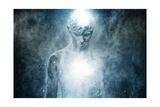 Man with Conceptual Spiritual Body Art Poster by NejroN Photo