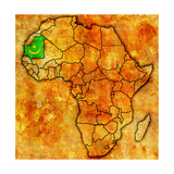 Mauritania on Actual Map of Africa Plakater af michal812