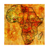 Ghana on Actual Map of Africa Posters af michal812