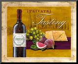 Private Tasting Wine & Cheese Mounted Print by Angela Staehling