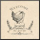 Good Life Chicken Mounted Print by Marco Fabiano