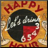 Happy Hour Mounted Print by Aaron Christensen