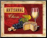 Artisanal Wine & Cheese Mounted Print by Angela Staehling