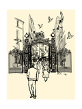 Vector Illustration of a Street near Montmartre in Paris Prints by  isaxar