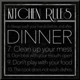 kitchen Rules 2 Mounted Print by Jace Grey