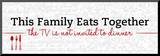 Family Eats Together Mounted Print