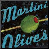 Martini Olives Mounted Print by Aaron Christensen