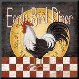 Early Bird Diner Mounted Print by Kathy Middlebrook