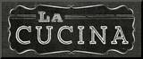 La Cuisine Chalk III Mounted Print by  Pela