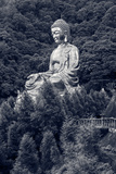 Giant Copper Buddha Statue, Shot at Jeng De Temple, Puli Town, Taiwan, Asia. Photographic Print by  elwynn