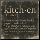 Kitchen Definition Mounted Print by Jace Grey