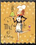 Welcome to My Kitchen Mounted Print by Rebecca Lyon
