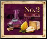 No2 Reserve Wine & Cheese Mounted Print by Angela Staehling