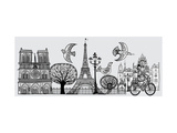 Vector Illustration of an Original Composition about Paris -All Elements Separated- Prints by  isaxar