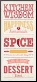 Kitchen Wisdom Mounted Print by Stephanie Marrott