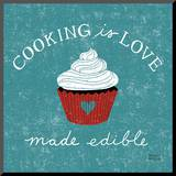 Cooking is Love Mounted Print by Michael Mullan