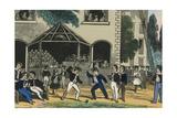 Children Yield Whips in a Game Posters av Charles Butler