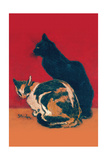 Chats Poster by Théophile Alexandre Steinlen