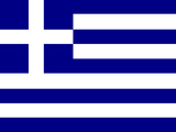 Greece National Flag Poster Print Stretched Canvas Print