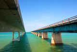 Bridges Going to Infinity. Seven Mile Bridge in Key West Florida Photographic Print by  Fotomak