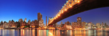 Queensboro Bridge over New York City East River at Sunset with River Reflections and Midtown Manhat Posters by Songquan Deng