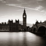 Big Ben and House of Parliament in London at Dusk Panorama. Photographic Print by Songquan Deng