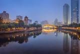 Chengdu, Sichuan, China at Anshun Bridge. Photographic Print by  SeanPavonePhoto