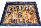Stirling Mile Marker Sign Posters by Mr Doomits