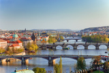 View on Prague Bridges at Sunset Photographic Print by  sborisov