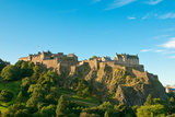 Edinburgh Castle on a Clear Sunny Day, Scotland, UK Prints by  vitalytitov