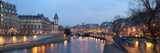 France Paris - View from Pont Neuf Bridge at Night Posters by  isaxar