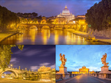 Vatican View from the Bridge after Sunset, Rome Photographic Print by  boule