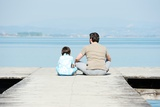 Father and Son on a Sea Dock Posters by  zurijeta