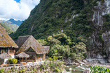 Aguas Calientes, the Town and Railway Station at the Foot of the Sacred Machu Picchu Mountain, Peru Photographic Print by  xura