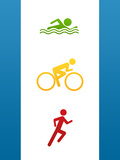 Triathlon Sports Poster Print Posters