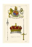 Regalia of Scotland - Arms, Staff, Sword and Crown Prints by Hugh Clark