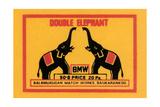 Double Elephant Prints
