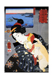 Cat and Noble Woman Prints by Kuniyoshi Utagawa