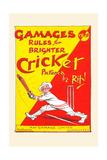 Gamages Rules for Brighter Cricket Kunst