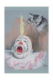 Clown with Cat Prints by Peter Driben