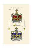 Regalia of England - Crowns Art by Hugh Clark