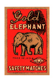 Golden Elephant Posters