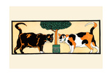Cats by the Plant Prints by Edward Penfield