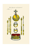 Regalia of England - Staffs, Scepters, Orb, Coronation, Rings, and Circle Posters by Hugh Clark