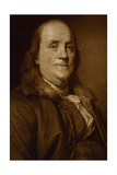 Benjamin Franklin in Fur Collar Prints by Joseph-Siffrede Duplessis