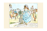 Alighting from a White Horse Prints by Randolph Caldecott