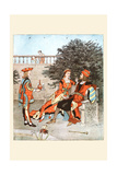All on a Summer's Days She Sat on a Bench with the King Prints by Randolph Caldecott