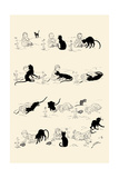 Cat and Baby Prints by Théophile Alexandre Steinlen