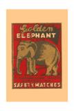 Golden Elephant Art