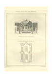 Persian Baths, Plan and Interior Prints by Richard Brown